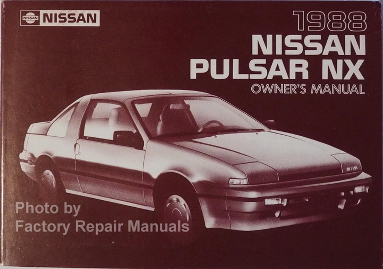 1988 NISSAN PULSAR NX Original Factory Dealer Owner/'s Owners Manual 88