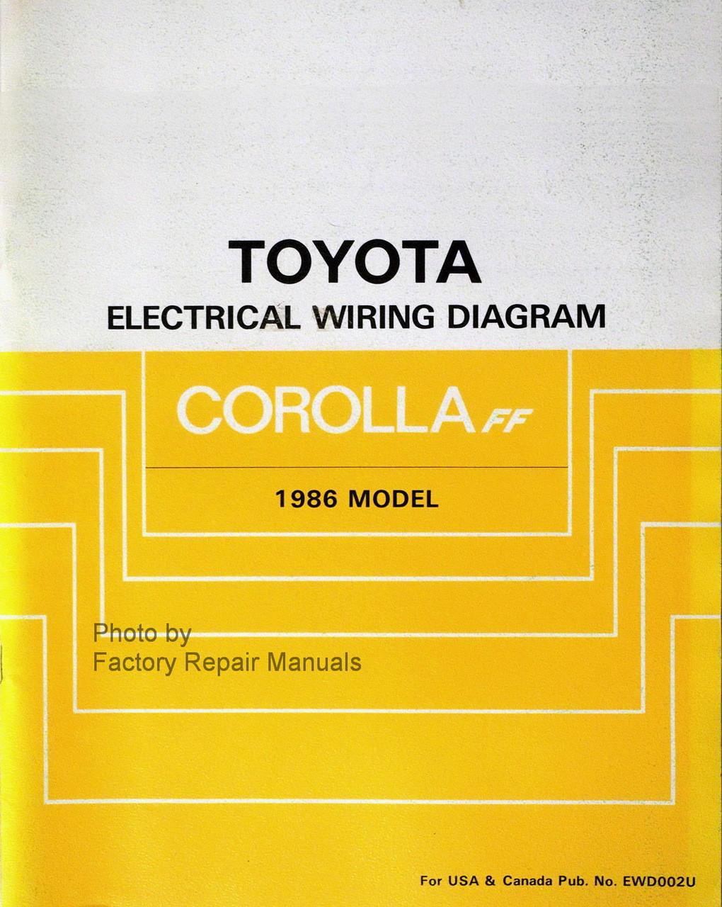 1986 Toyota Corolla Fwd Electrical Wiring Diagrams
