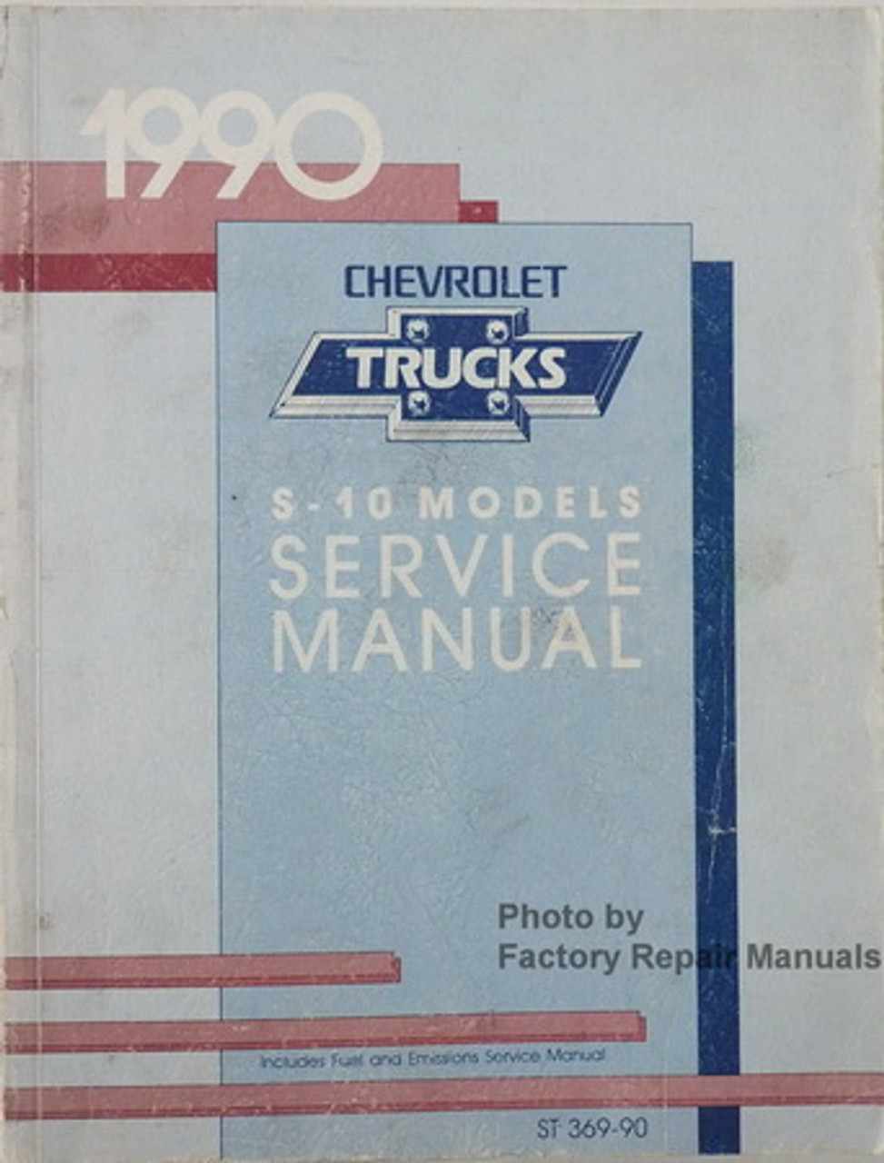 90 1990 Chevrolet S-10 owners manual