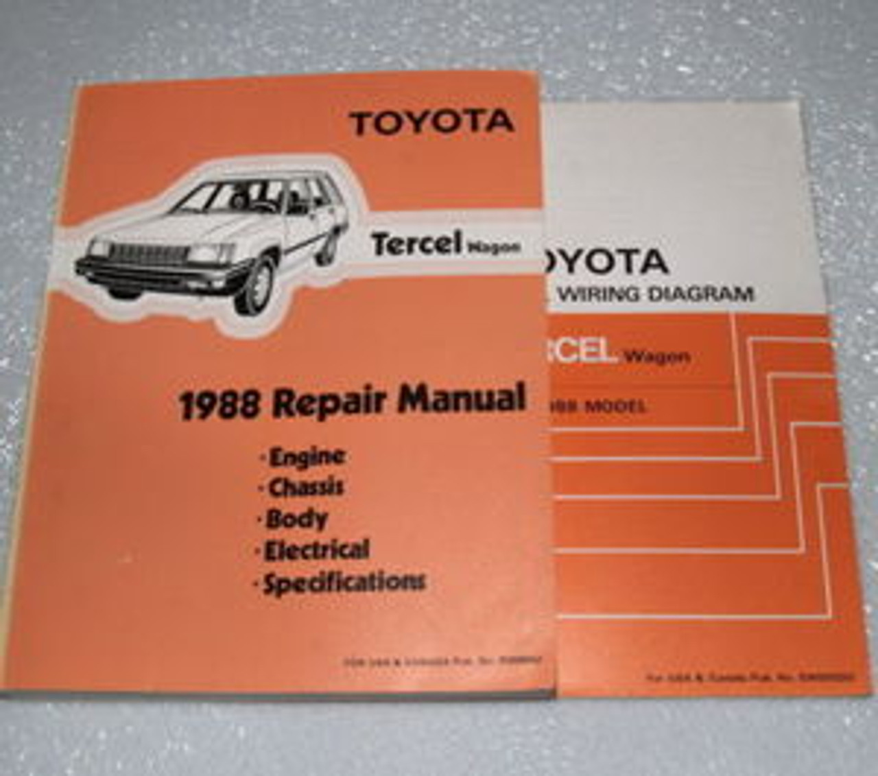 toyota tercel electrical diagram 1988 toyota tercel wagon factory shop service repair manual and  1988 toyota tercel wagon factory shop