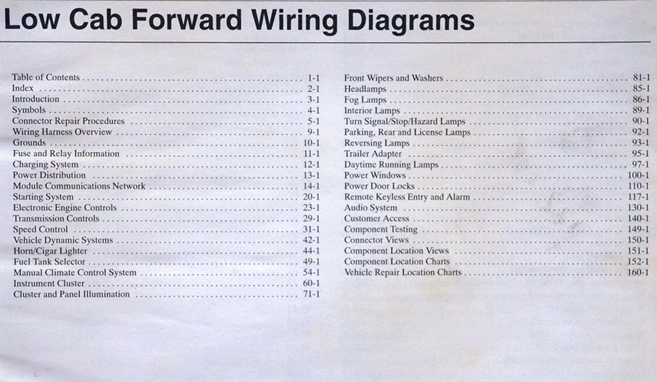 2006 Ford Lcf Low Cab Forward Truck Electrical Wiring Diagrams Original