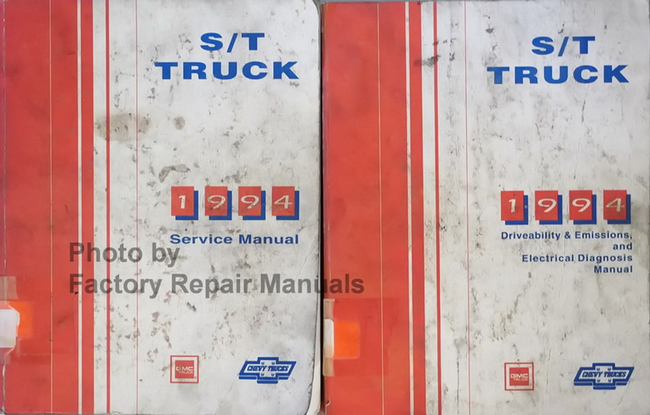 1994 Chevy Truck Blazer S10 S-10 Sonoma Service Shop Repair Manual SET FACTORY x