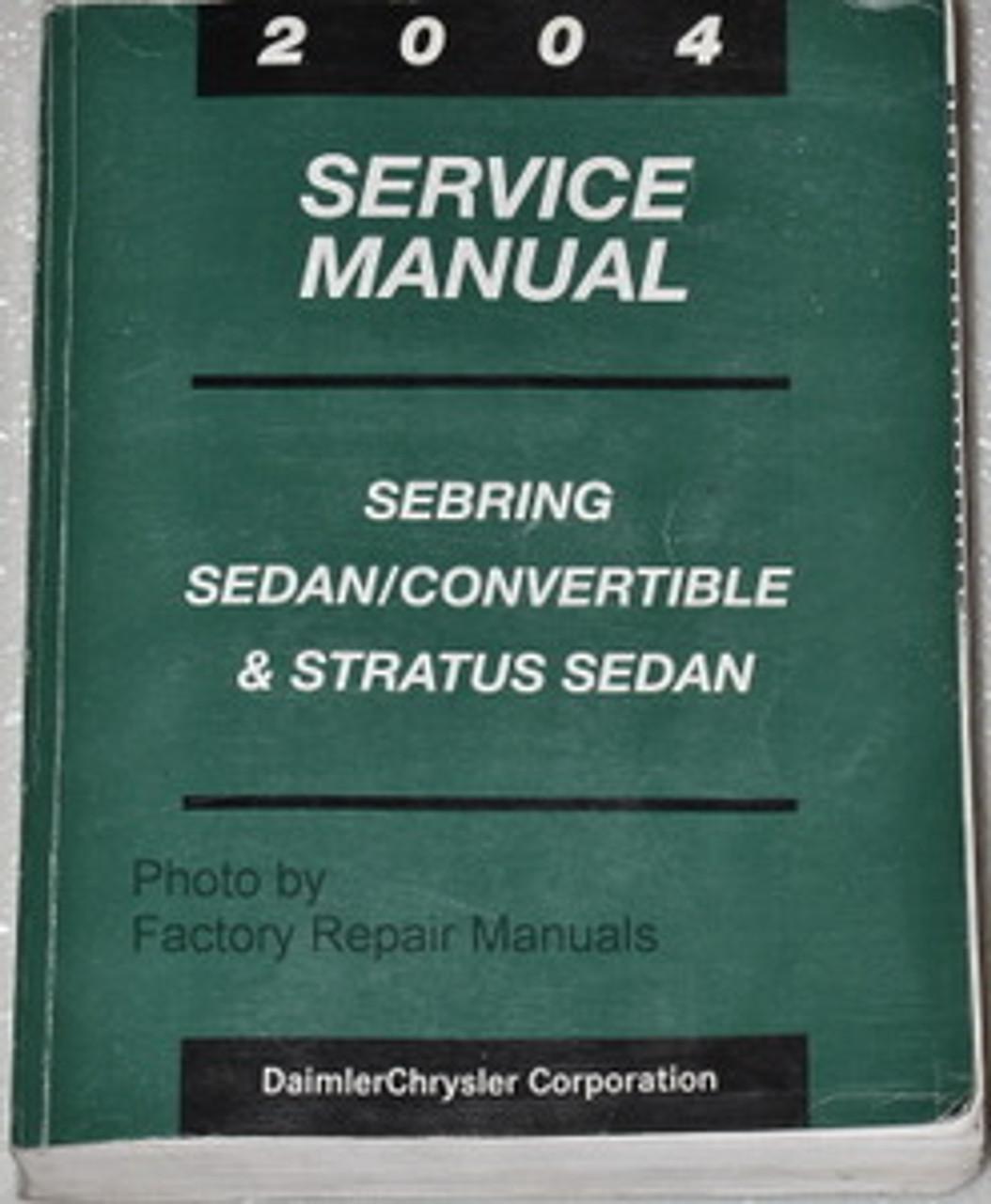 2004 Sebring Sedan  U0026 Convertible Dodge Stratus Sedan