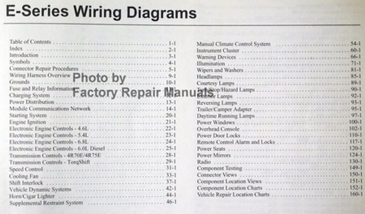 2005 Ford E150 E250 E350 E450 Econoline Van Club Wagon Electrical Wiring Diagram Manual