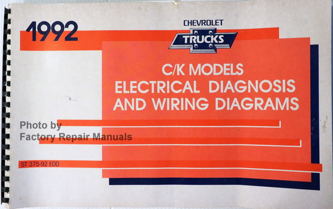 1992 chevy c k pickup truck suburban blazer electrical diagnosis and wiring  diagrams - factory repair manuals  factory repair manuals