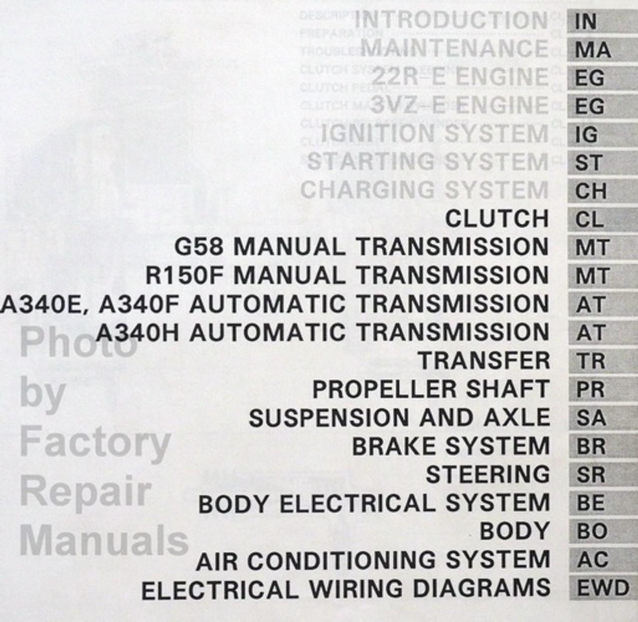 1994 Toyota 4Runner Factory Service Manual Set Original Shop Repair - Factory  Repair Manuals | 1994 Toyota 4runner Wiring Diagram Manual Original |  | Factory Repair Manuals