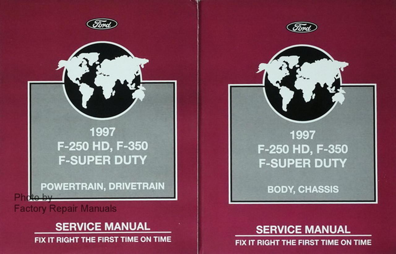 1997 Ford F-250 350 F SUPER DUTY Truck Service Shop Manual SET ...