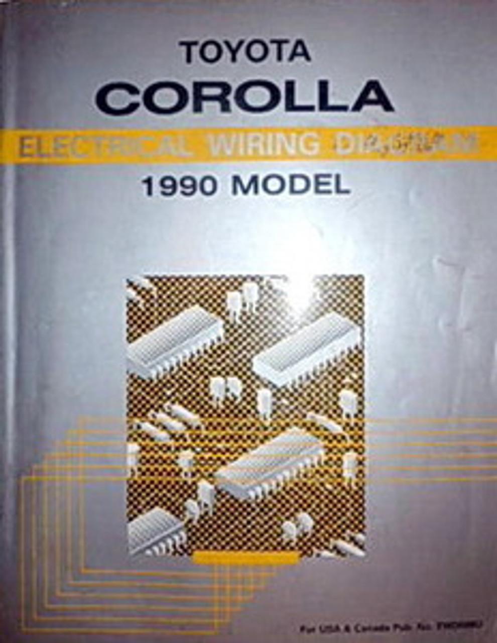 1990 Toyota Corolla Electrical Wiring Diagrams Original Manual Factory Repair Manuals