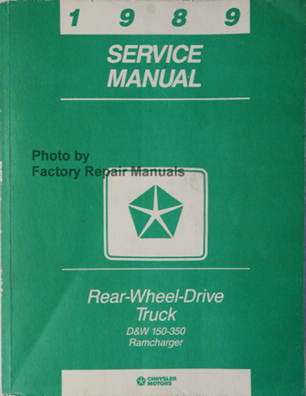 1989 Dodge Caravan Plymouth Voyager Factory Shop Service Repair Manual CD