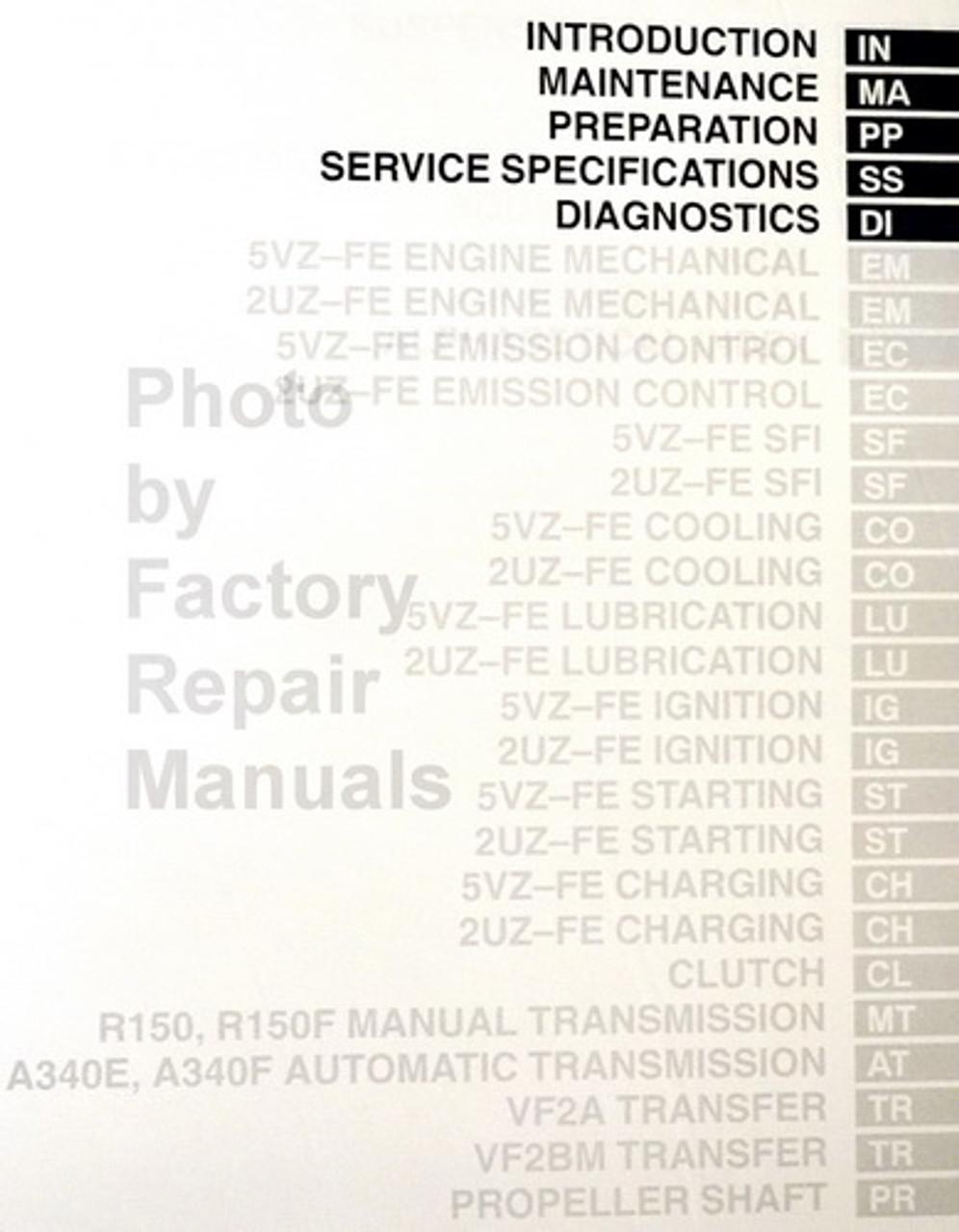 2004 Toyota Tundra Shop Service Repair Manual Service & Repair ...