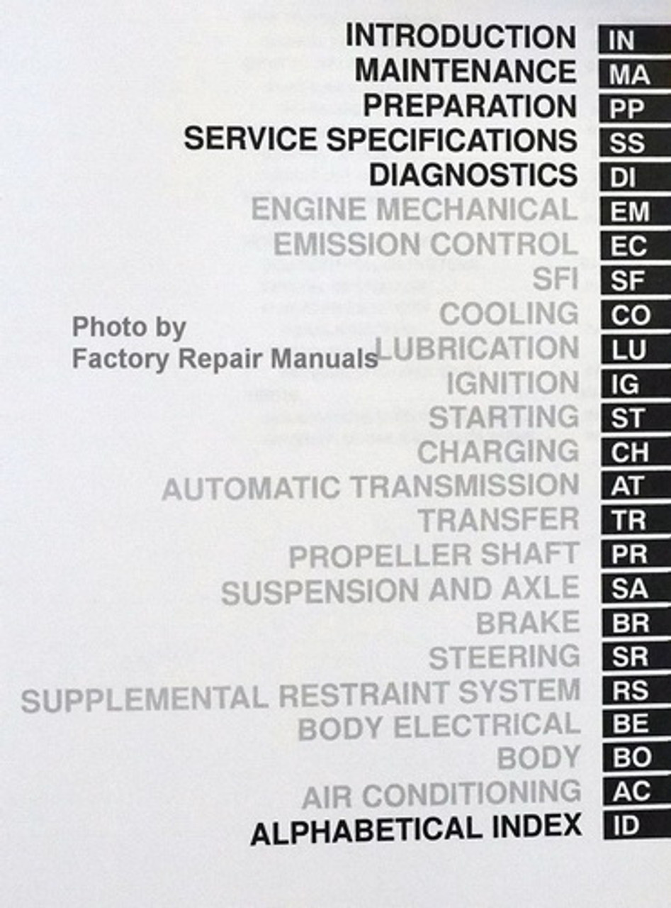 2000 Toyota Land Cruiser Factory Service Manual Set