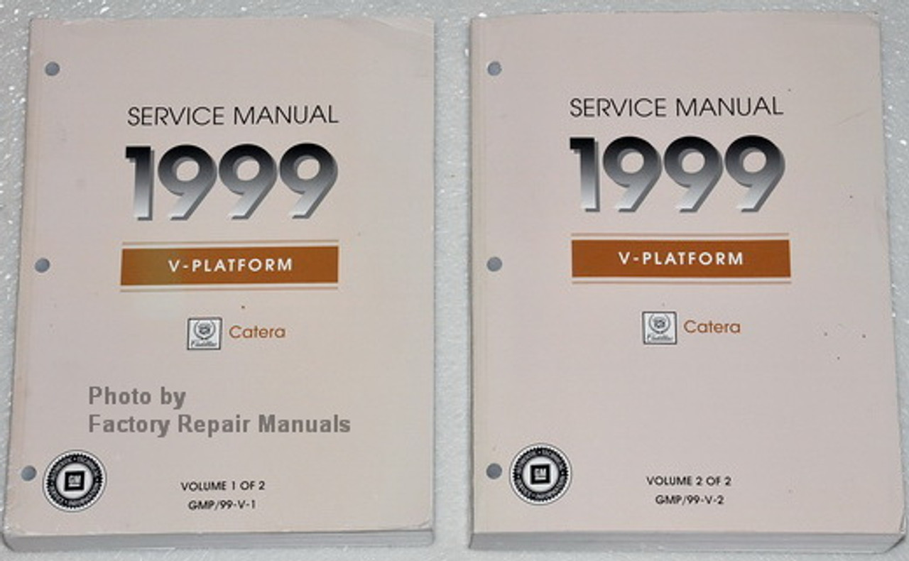 1999 Cadillac Catera Factory Service Manual Set - Original Shop Repair