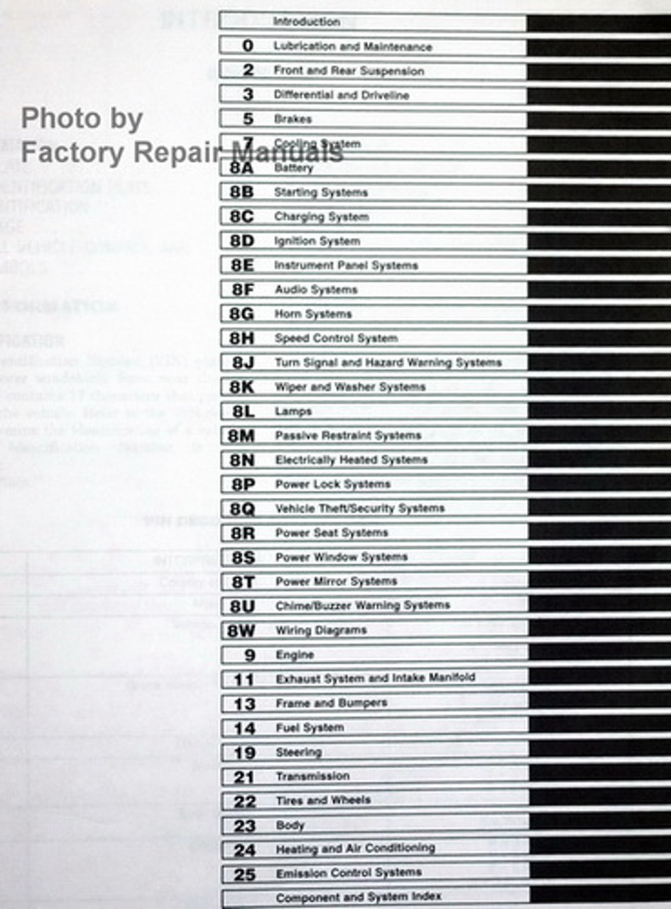 1998 Dodge Ram Van  U0026 Wagon Factory Service Manual B1500 B2500 B3500