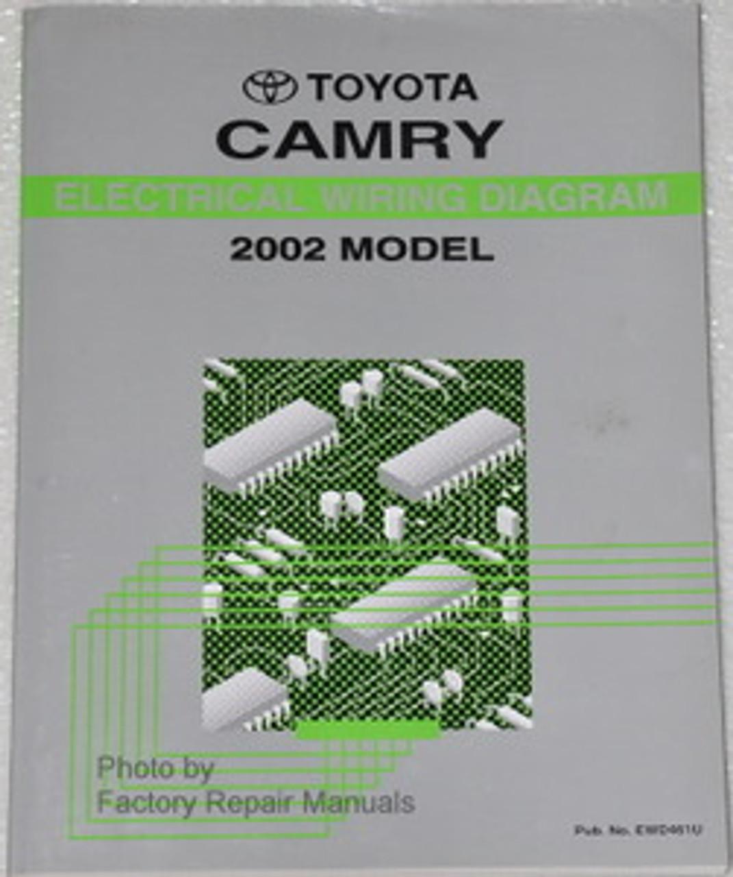 2002 Toyota Camry Electrical Wiring Diagrams Original Factory Manual Factory Repair Manuals