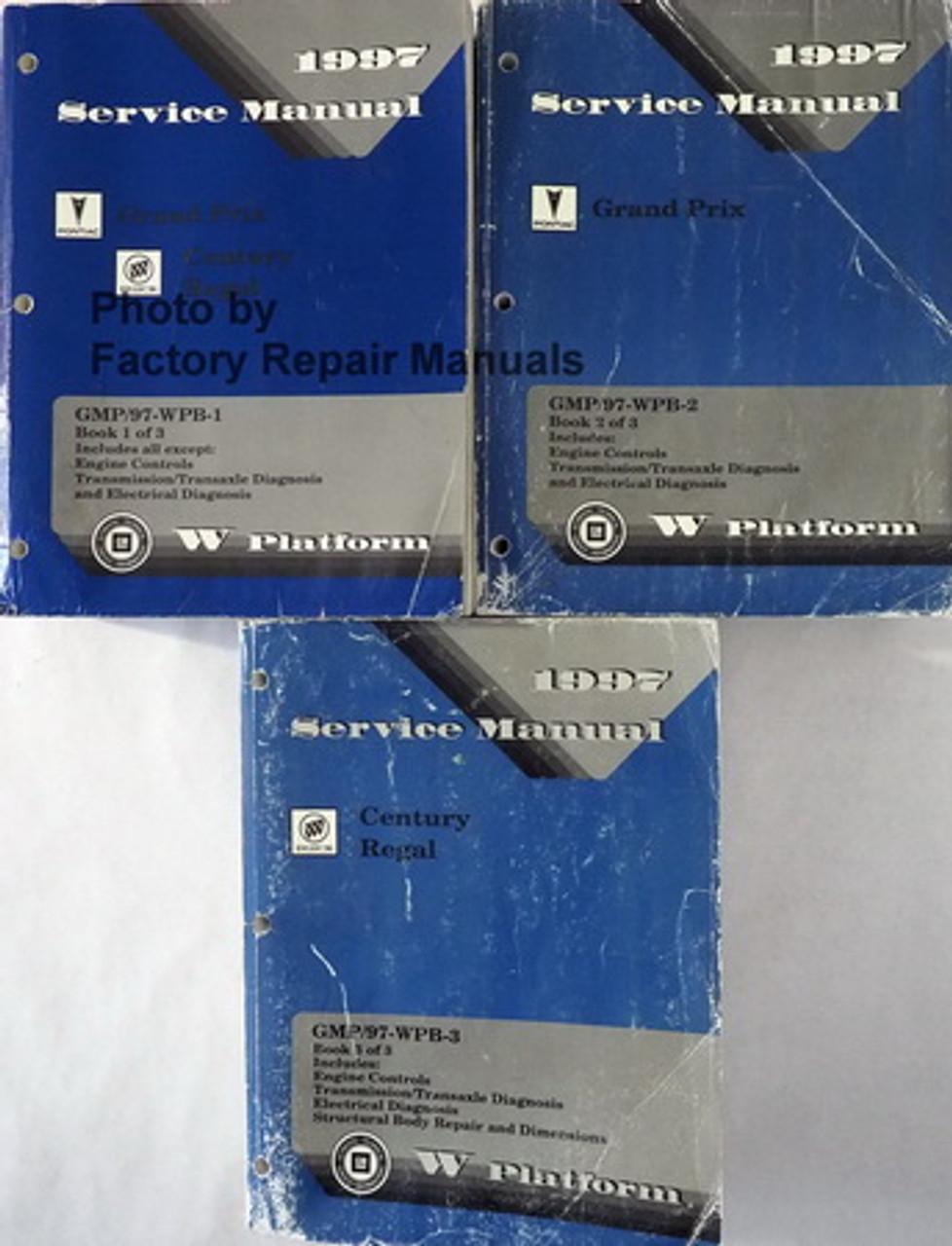 1998 Buick Regal and Century Shop Manual 3 Volume Set Original Repair Service
