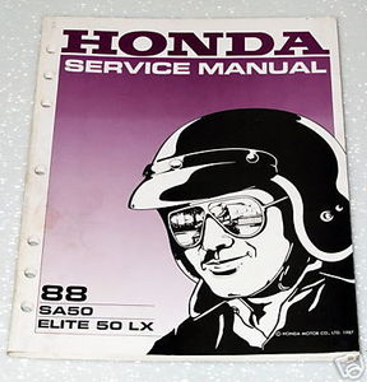 1988 Honda Elite 50 Lx Scooter Sa50 Factory Dealer Shop