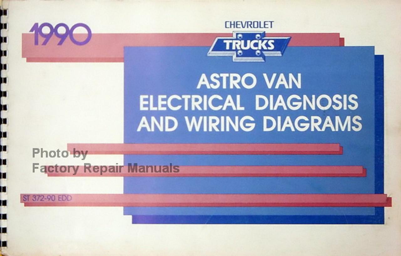 1990 chevy astro van factory electrical diagnosis & wiring diagrams manual 1994 chevy astro van wiring diagram 1990 chevy astro wiring diagram #5