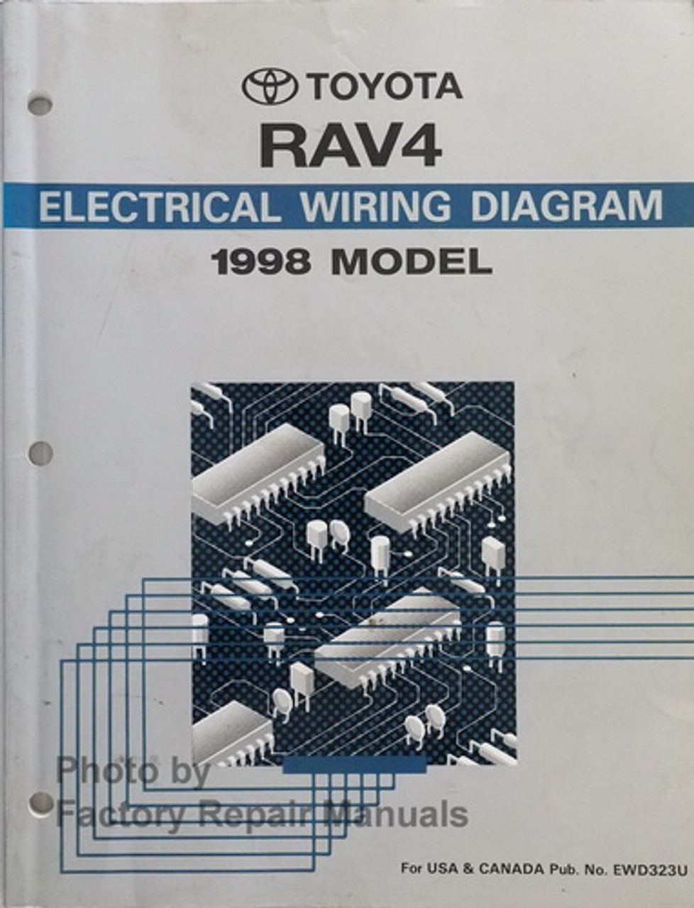 400 Toyota RAV40 Electrical Wiring Diagrams Original Manual
