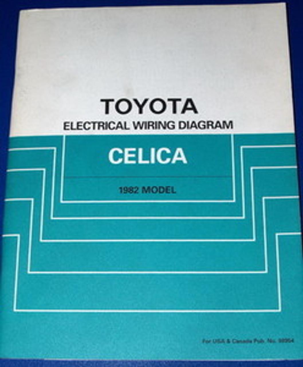 1982 toyota celica electrical wiring diagrams original factory manual -  factory repair manuals  factory repair manuals