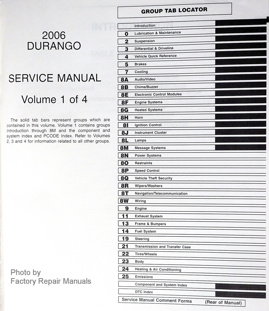 2006 Dodge Durango Factory Service Manuals Original Shop Repair