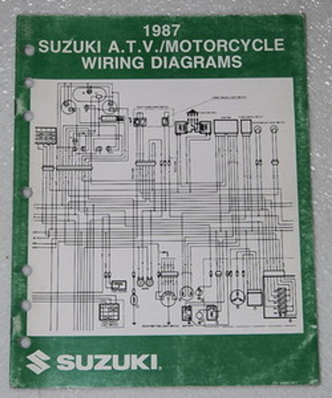 1987 SUZUKI Motorcycle and ATV Electrical Wiring Diagrams ...
