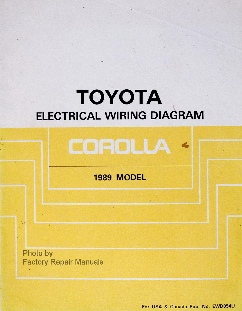 1989 Toyota Corolla Electrical Wiring Diagrams Manual