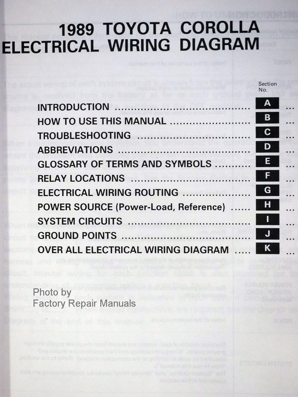 1989 Toyota Van Wiring Diagram