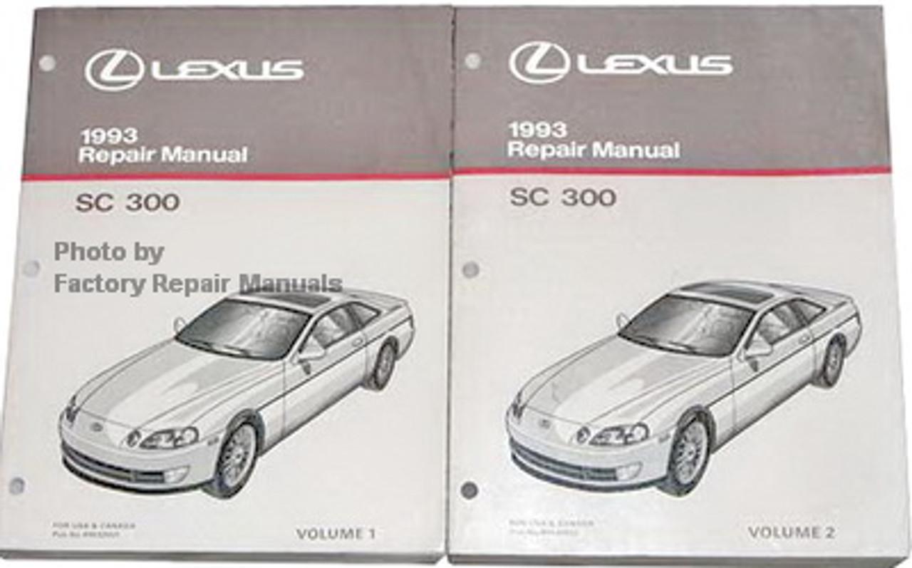 1993 Lexus Sc300 Factory Service Manual Set Original Shop