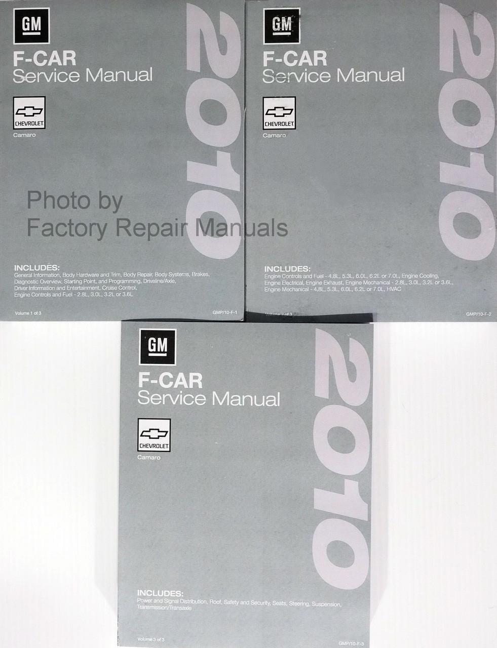 2010 Chevy Camaro Factory Service Manual Set Original Shop Repair
