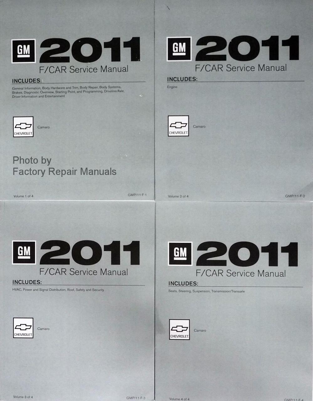 2011 Chevy Camaro Service Manual Original Shop Repair