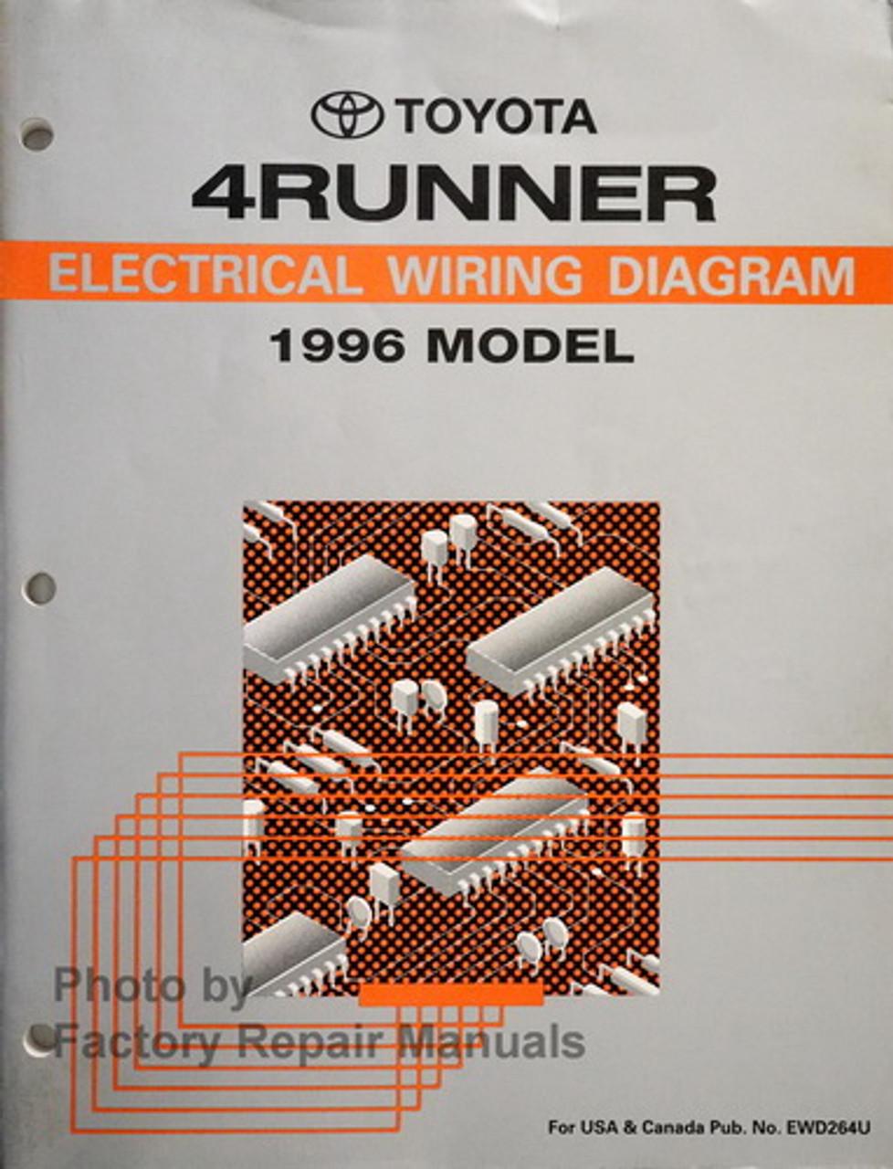 1996 Toyota 4Runner Electrical Wiring Diagrams Original Factory Manual -  Factory Repair ManualsFactory Repair Manuals
