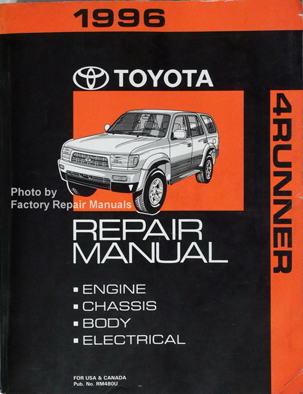 1996 Toyota 4runner Factory Service Manual Original Shop Repair Factory Repair Manuals