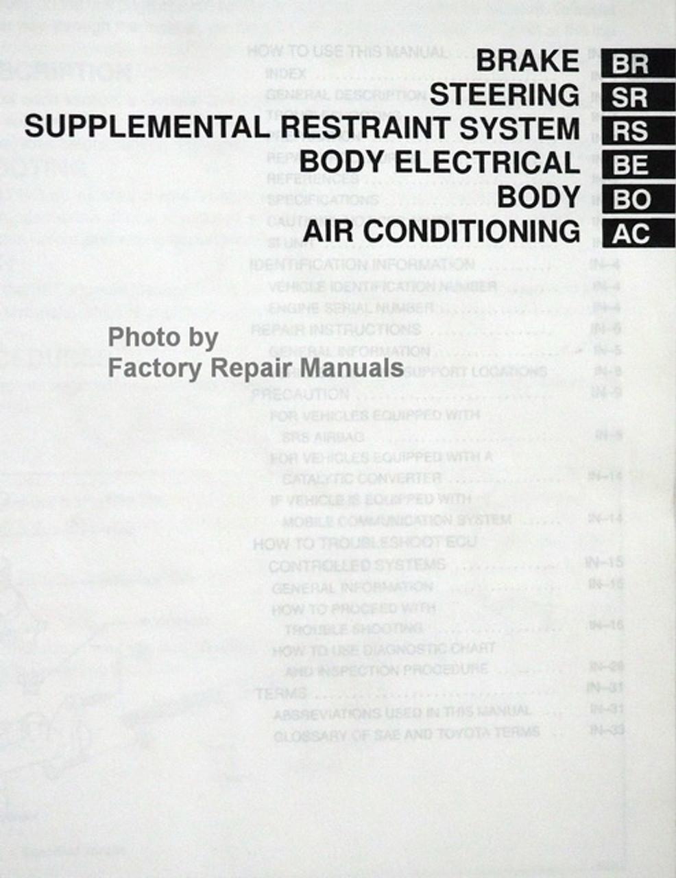 1996 Toyota 4Runner Factory Service Manual Original Shop