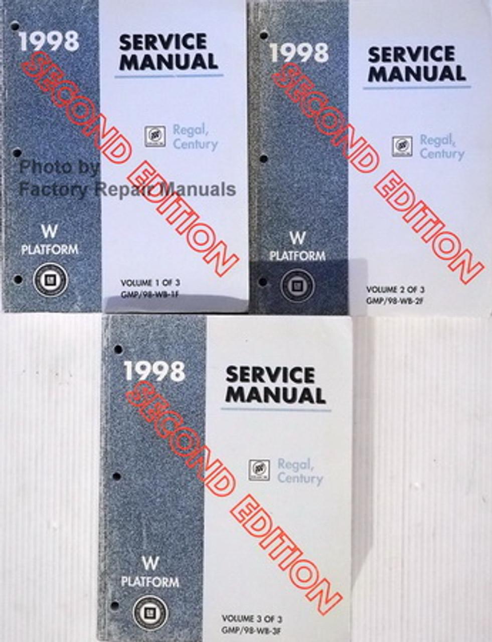 1998 Buick Century Regal Factory Service Manual Set Original Shop Repair