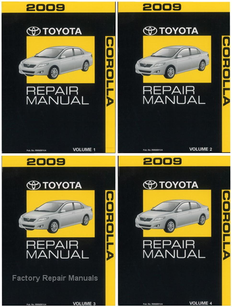 2009 Toyota Corolla Factory Repair Manual Set