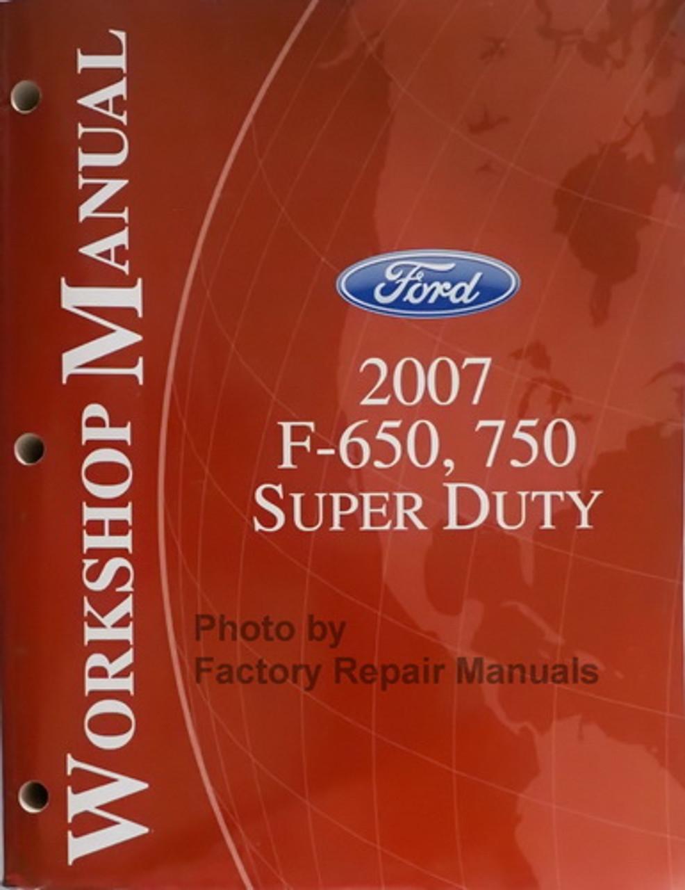 OEM Repair Maintenance Wiring Schematics Ford Truck F250-F550 ...