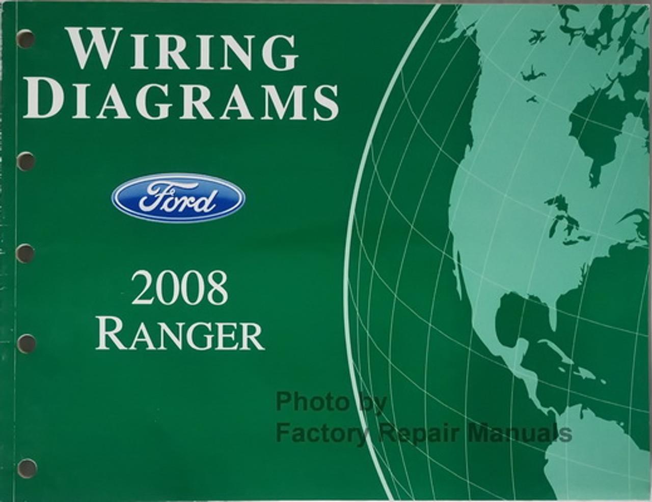 2008 Ford Ranger Truck Electrical Wiring Diagrams Original Manual Factory Repair Manuals