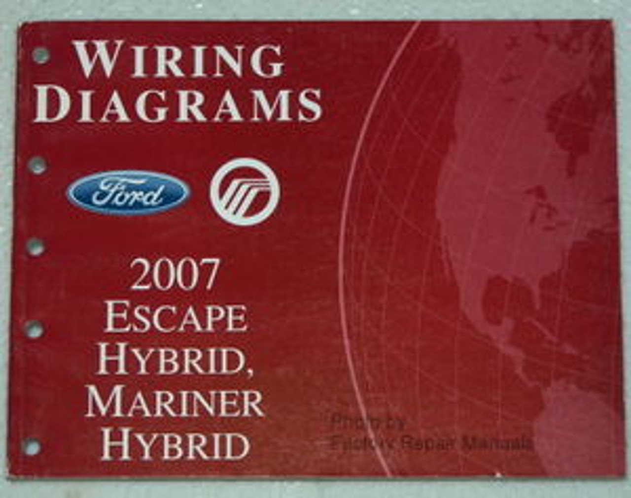 2007 Ford Escape  Mercury Mariner Electrical Wiring Diagrams - Hybrid Models