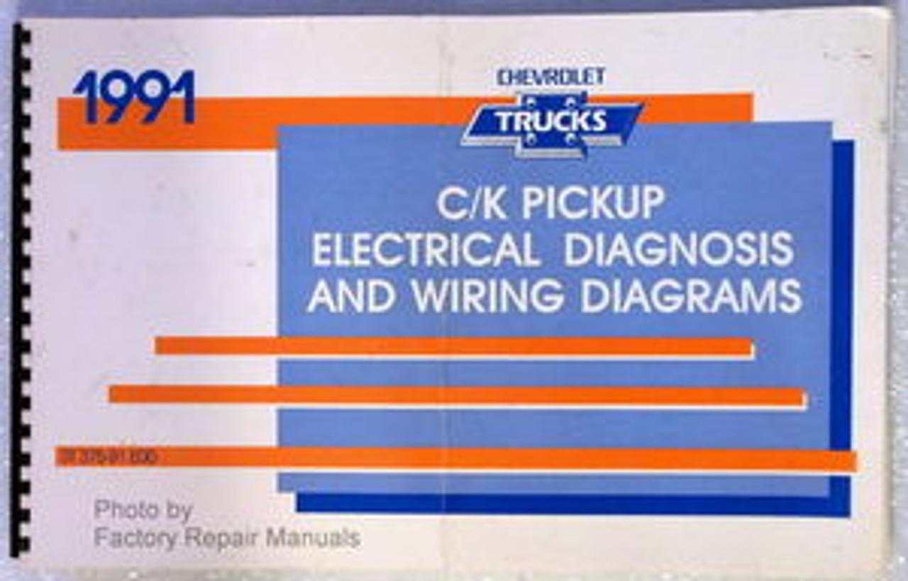 1991 Chevy C K Truck Electrical Diagnosis Manual, Wiring Diagrams 1500 2500  3500 - Factory Repair ManualsFactory Repair Manuals