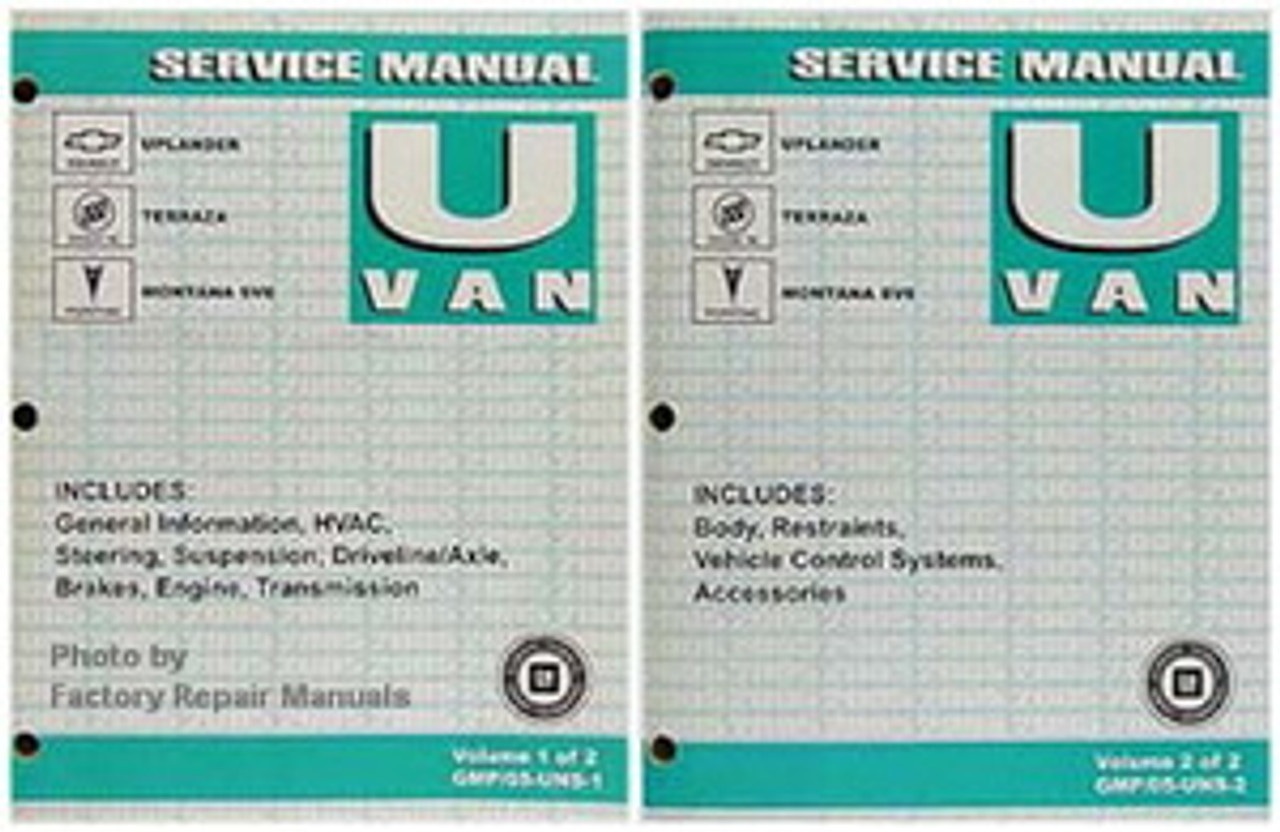 2005 CHEVROLET CHEVY UPLANDER OWNERS MANUAL OEM