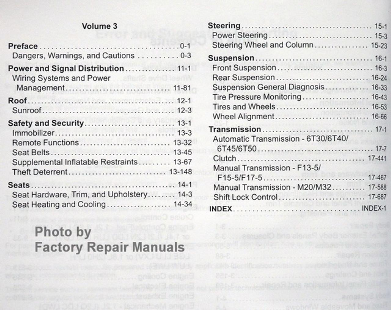 2012 Chevy Sonic Factory Service Manual Set Original Shop Repair