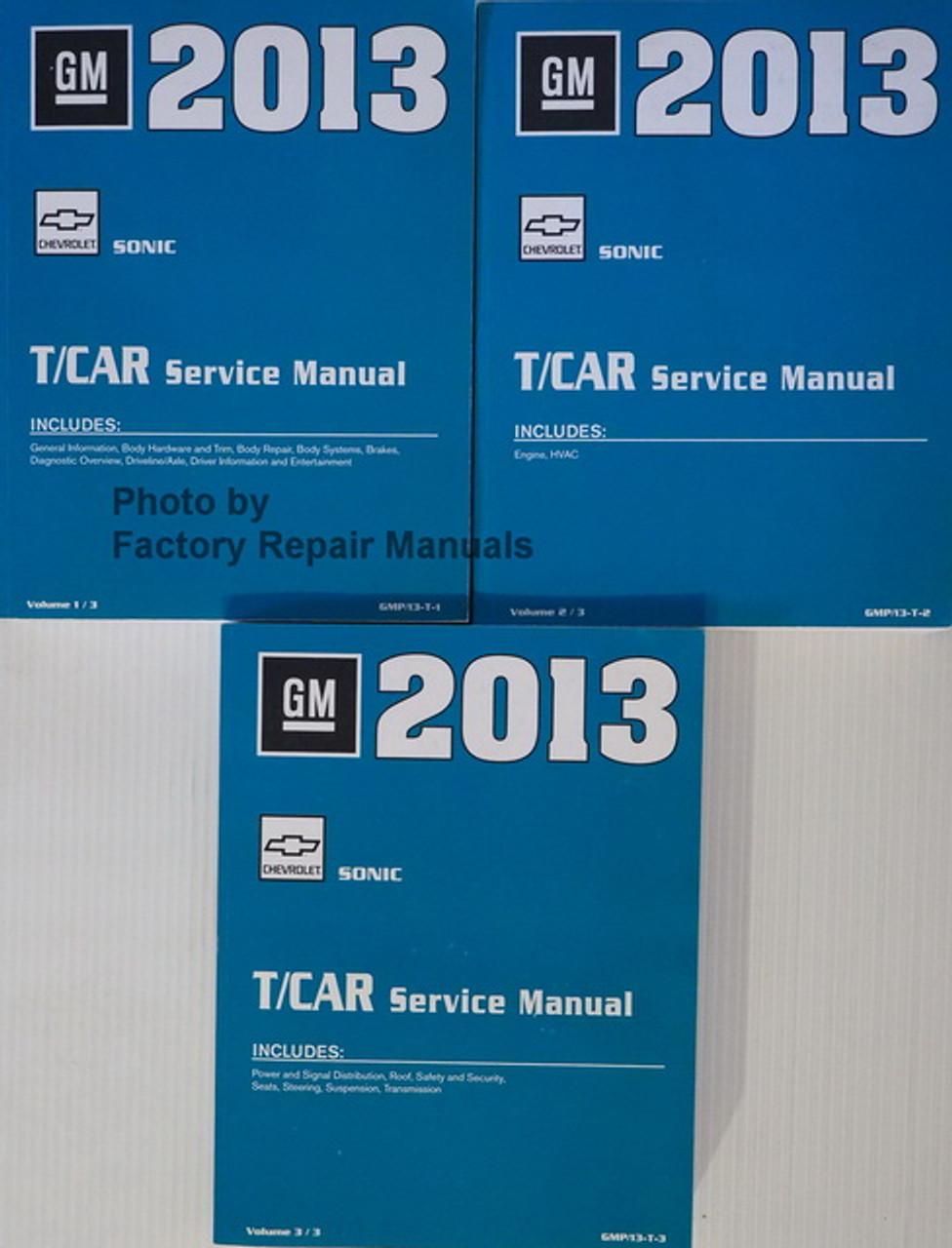 2013 Chevy Sonic Factory Service Manual 3 Volume Set Original Shop Repair