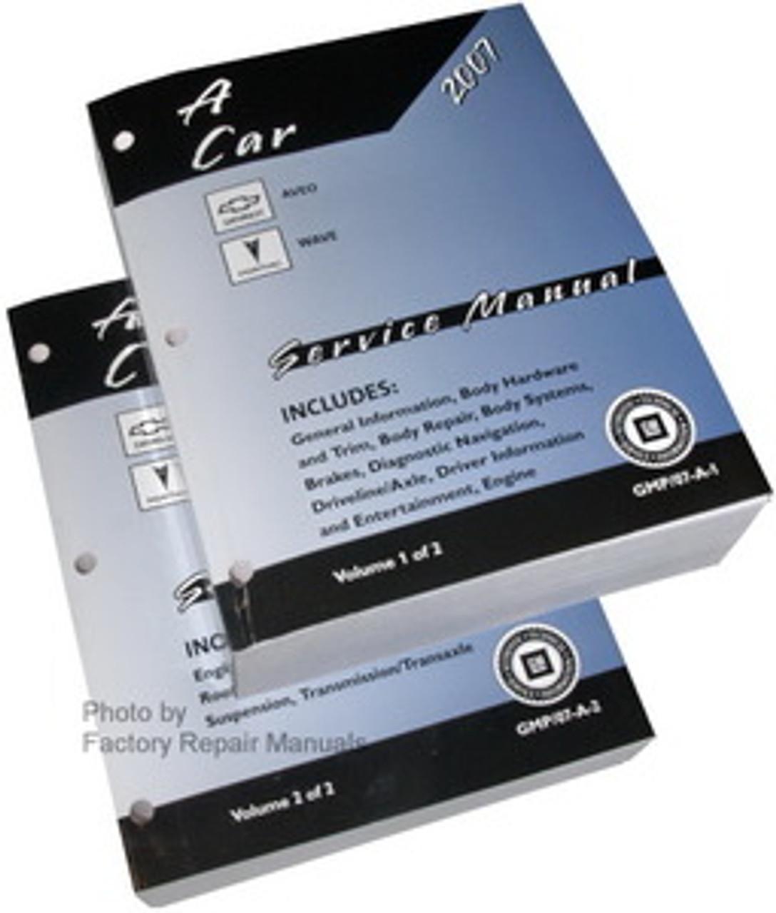 2007 Chevy Aveo  Pontiac Wave Factory Service Manual Set - Original Shop Repair