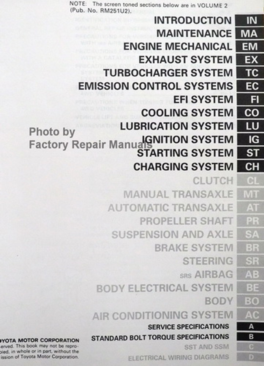 1992 Toyota Celica Factory Service Manual Set Original Shop Repair