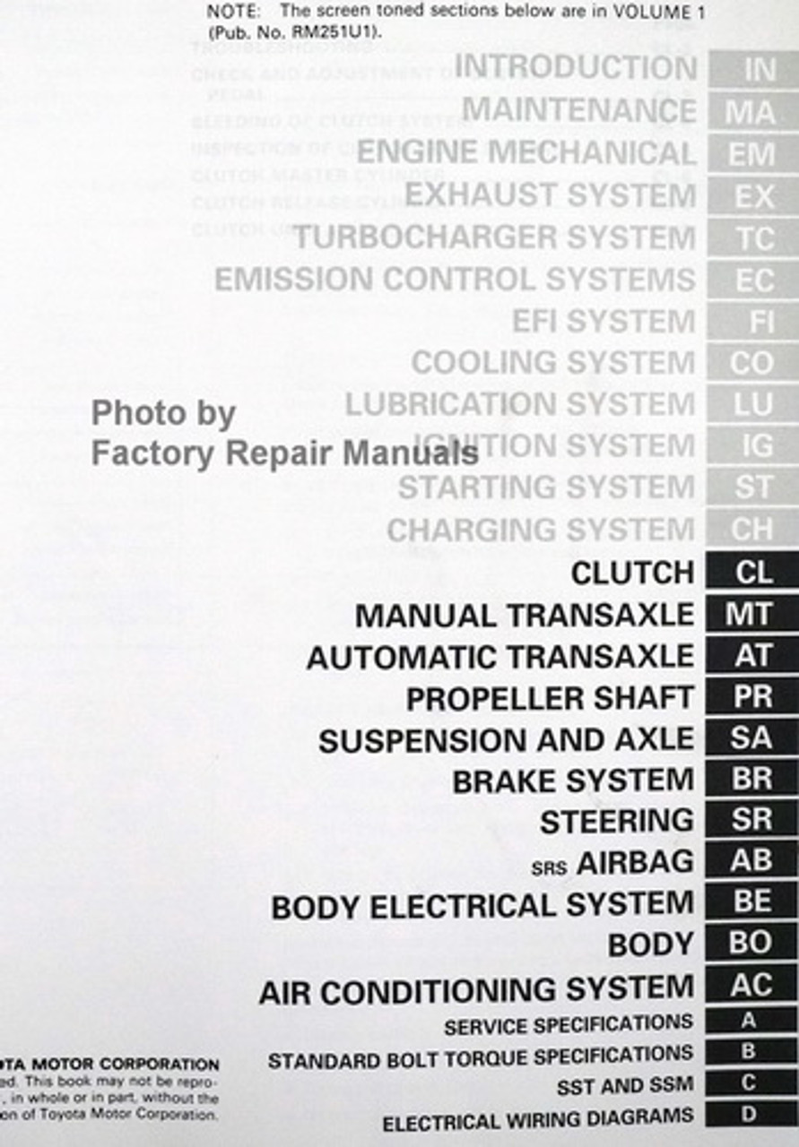 1992 Toyota Celica Factory Service Manual Set Original