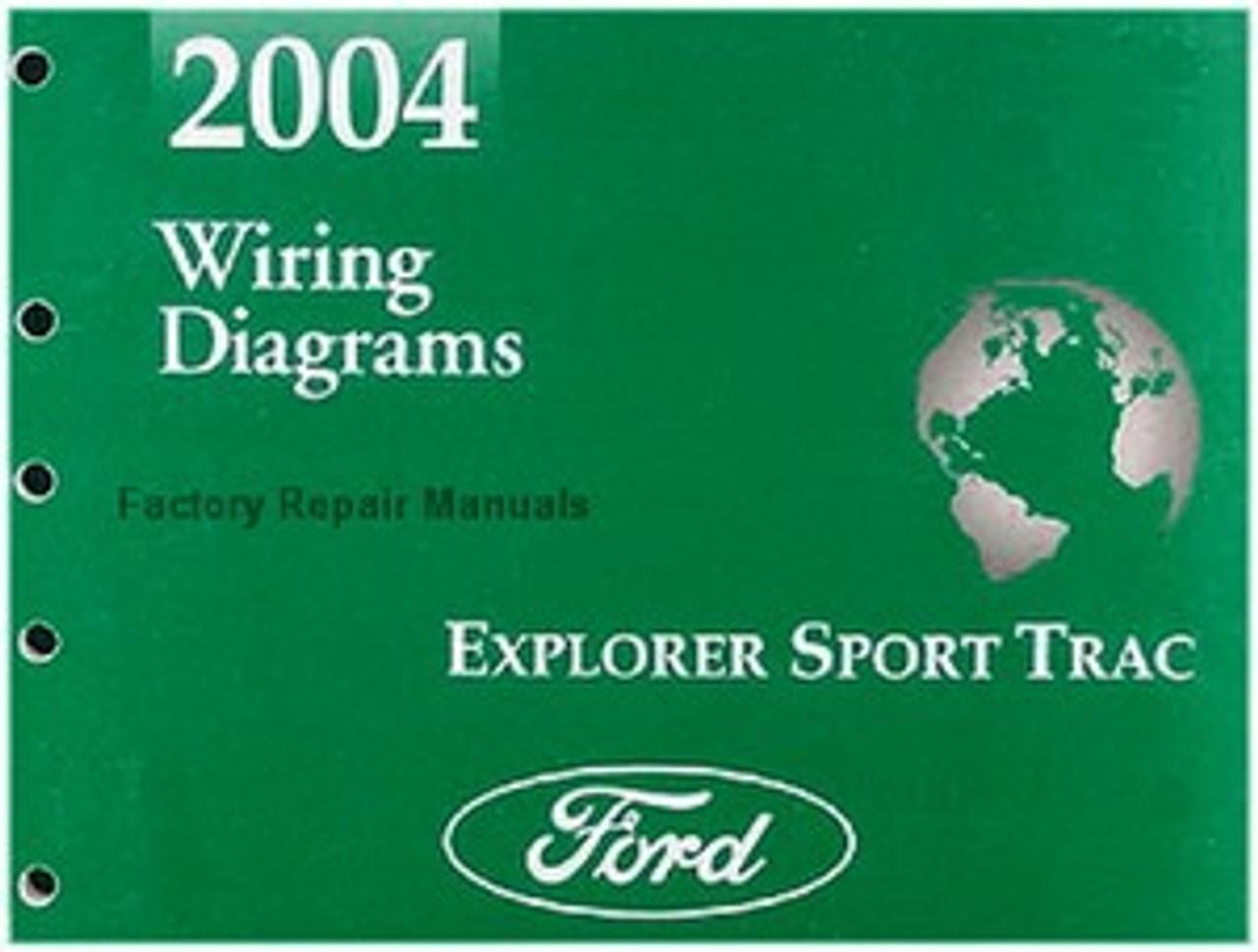 2004 Ford Explorer Sport Trac Truck Electrical Wiring Diagrams Manual Original Factory Repair Manuals