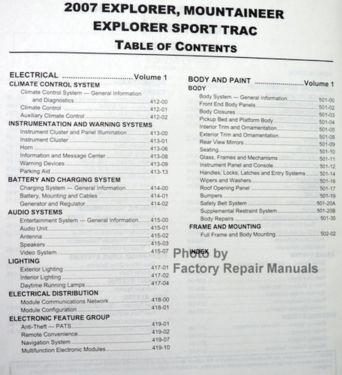 Ford Explorer Mercury Mountaineer 4 6l Engine 2006 2007 Manual Guide