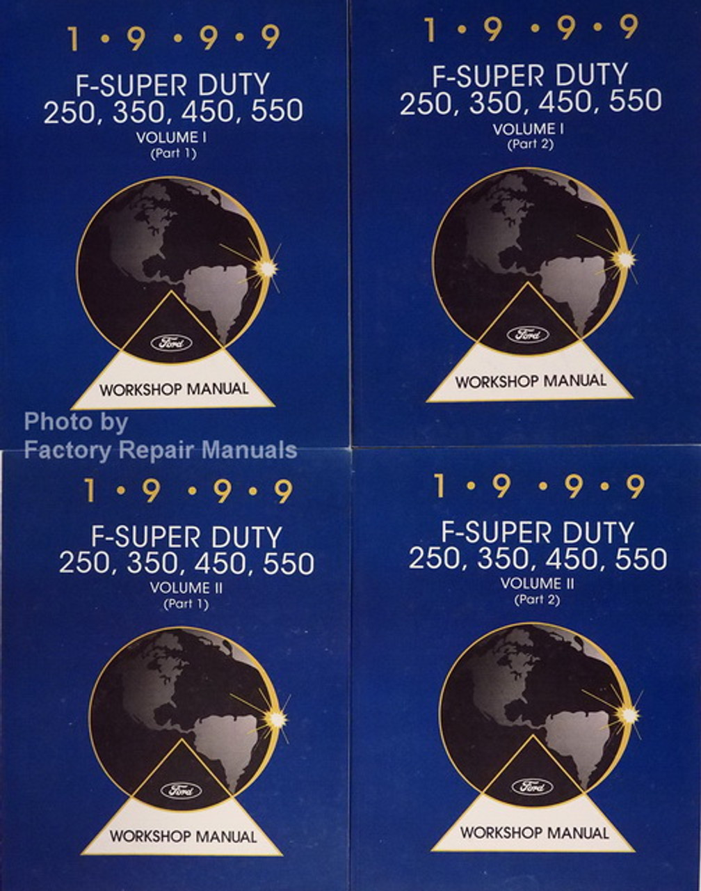 1999 Ford F250 F350 F450 F550 Super Duty Factory Shop