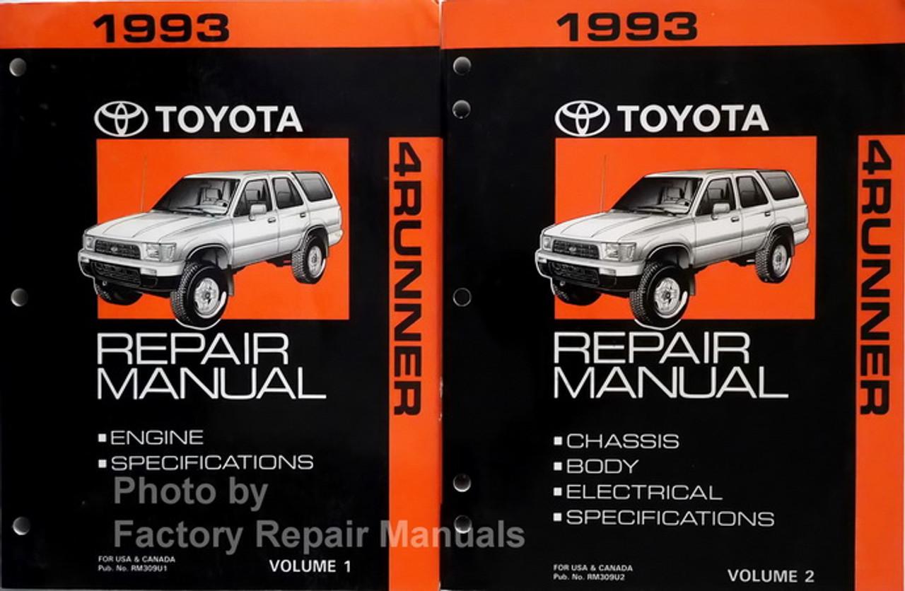 1993 Toyota 4runner Factory Service Manual Set Original