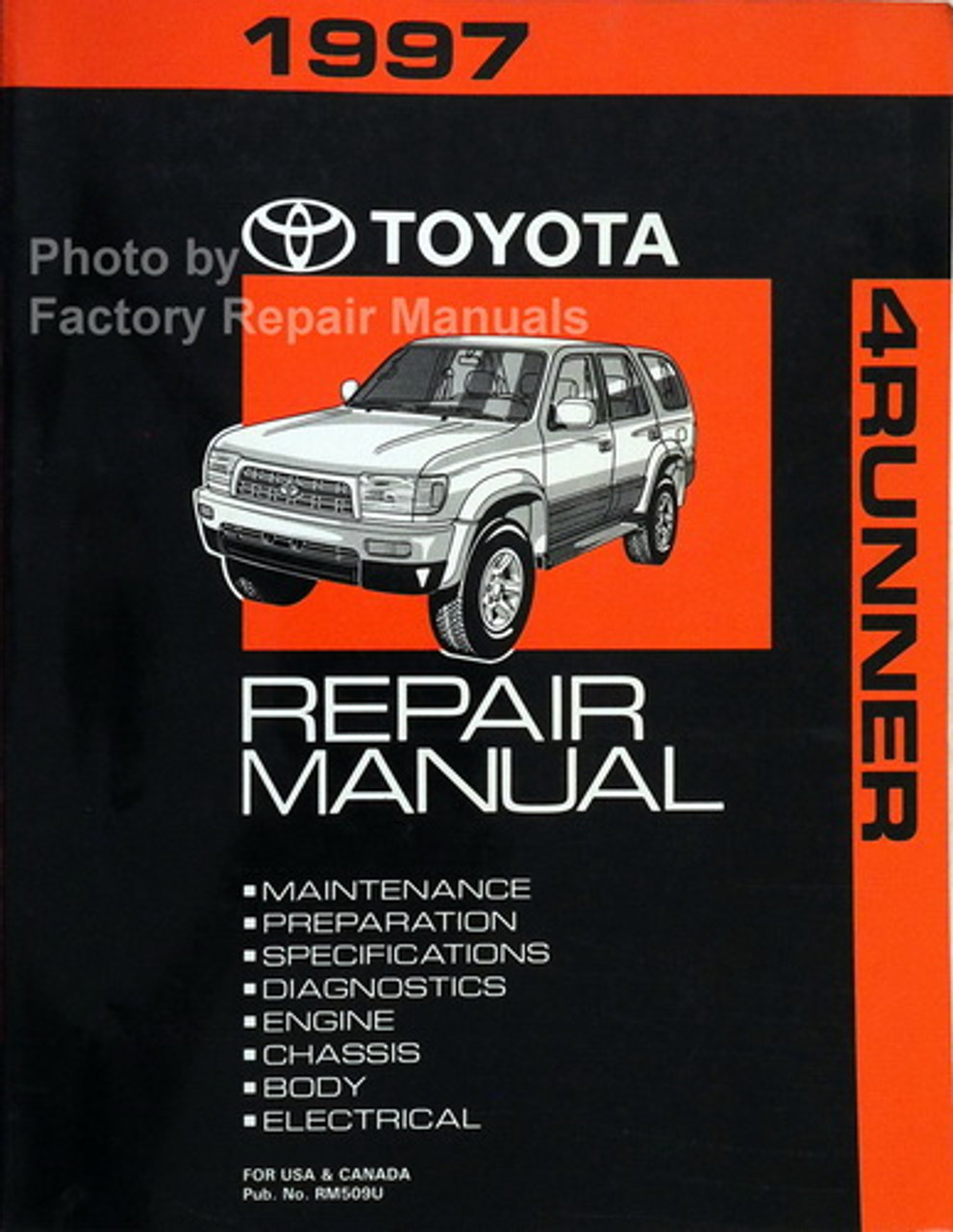 1997 Toyota 4runner Factory Service Manual Original Shop